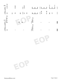 The Autumn-Dancing Line-Numbered-Musical-Notation-Preview-4