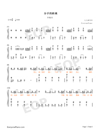 The Distance of Broke Up-Numbered-Musical-Notation-Preview-1