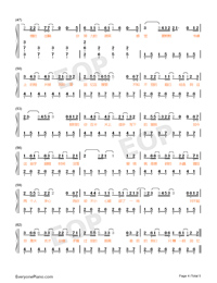 The Distance of Broke Up-Numbered-Musical-Notation-Preview-4