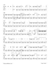 From Now On I Wander With Myself-Nezha ED-Numbered-Musical-Notation-Preview-2