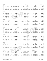 From Now On I Wander With Myself-Nezha ED-Numbered-Musical-Notation-Preview-3