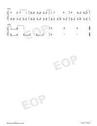 From Now On I Wander With Myself-Nezha ED-Numbered-Musical-Notation-Preview-4