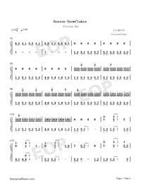 Heaven-Snowflakes-Florian Bur-Numbered-Musical-Notation-Preview-1