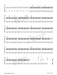 Heaven-Snowflakes-Florian Bur-Numbered-Musical-Notation-Preview-3