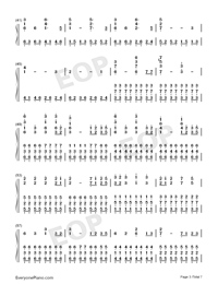 Star Sky Perfect Version-Numbered-Musical-Notation-Preview-3