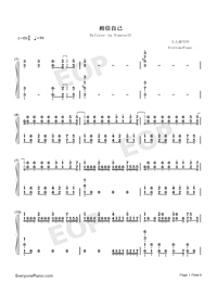 Believe in Yourself-Zero Band-Numbered-Musical-Notation-Preview-1