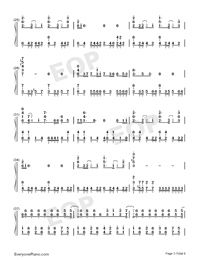 Believe in Yourself-Zero Band-Numbered-Musical-Notation-Preview-3