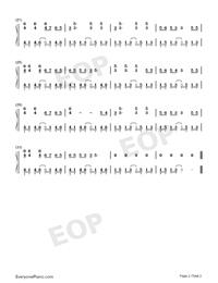 Nezha-Nezha Theme-Numbered-Musical-Notation-Preview-2