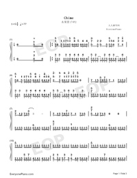 Chime-Fruits Basket OP2-Numbered-Musical-Notation-Preview-1