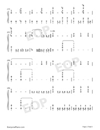 Gensou Joururi-Double Dealing Character OST-Numbered-Musical-Notation-Preview-2