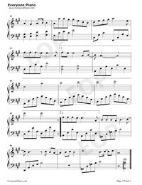 小歡喜-小歡喜同名主題曲五線譜預覽3