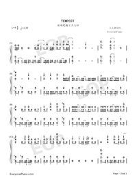TEMPEST-Demon Lord Retry OP-Numbered-Musical-Notation-Preview-1