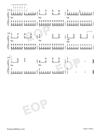 The Ocean-Dancing Line-Numbered-Musical-Notation-Preview-2