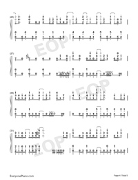 Touch Off-The Promised Neverland OP-Numbered-Musical-Notation-Preview-4