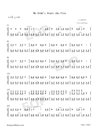 We Didnt Start the Fire-Avengers Endgame-Numbered-Musical-Notation-Preview-1