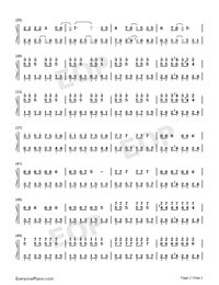 We Didnt Start the Fire-Avengers Endgame-Numbered-Musical-Notation-Preview-2