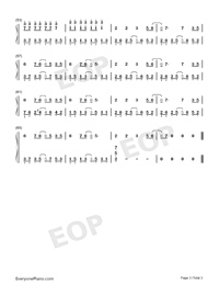 We Didnt Start the Fire-Avengers Endgame-Numbered-Musical-Notation-Preview-3