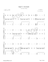Angels Serenade-Gaetano Braga-Numbered-Musical-Notation-Preview-1