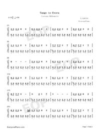 Tango to Evora-Loreena McKennitt-Numbered-Musical-Notation-Preview-1