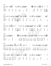 The Battle of Aughrim-Na Casaidigh Numbered Musical Notation Preview 2