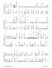 1st Love Story-And You Thought There Is Never a Girl Online OP-Numbered-Musical-Notation-Preview-2