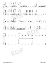 1st Love Story-And You Thought There Is Never a Girl Online OP-Numbered-Musical-Notation-Preview-4