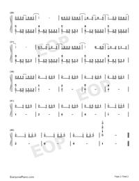 Ruby-Namu Amida Butsu -Rendai Utena-ED-Numbered-Musical-Notation-Preview-2