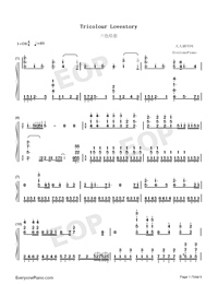 Tricolour Lovestory-Numbered-Musical-Notation-Preview-1