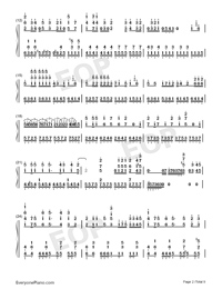 Tricolour Lovestory-Numbered-Musical-Notation-Preview-2