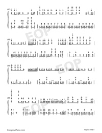Tricolour Lovestory-Numbered-Musical-Notation-Preview-3