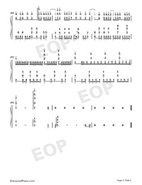 Tricolour Lovestory-Numbered-Musical-Notation-Preview-9
