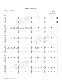 Attention-Joji-Numbered-Musical-Notation-Preview-1