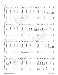 Let You Go-Hua Chenyu-Numbered-Musical-Notation-Preview-2