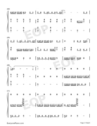Let You Go-Hua Chenyu-Numbered-Musical-Notation-Preview-3
