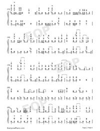 Rakuen Toshi-COP CRAFT OP-Numbered-Musical-Notation-Preview-2