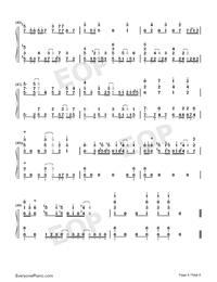 Rakuen Toshi-COP CRAFT OP-Numbered-Musical-Notation-Preview-4
