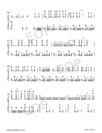 Good Morning World-Dr Stone OP-Numbered-Musical-Notation-Preview-3