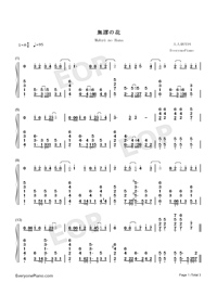 Mubyū no Hana-Kawaikereba Hentai demo Suki ni Natte Kuremasuka ED-Numbered-Musical-Notation-Preview-1