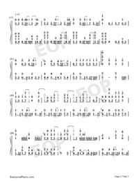Mubyū no Hana-Kawaikereba Hentai demo Suki ni Natte Kuremasuka ED-Numbered-Musical-Notation-Preview-2