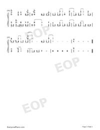 Mubyū no Hana-Kawaikereba Hentai demo Suki ni Natte Kuremasuka ED-Numbered-Musical-Notation-Preview-3