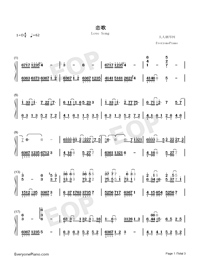 Love Song-Demon Girl ED-Numbered-Musical-Notation-Preview-1