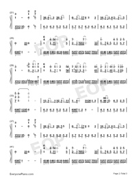 Love Song-Demon Girl ED-Numbered-Musical-Notation-Preview-2