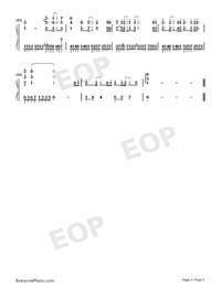 Love Song-Demon Girl ED-Numbered-Musical-Notation-Preview-3