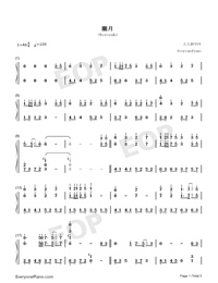 Oborozuki-Full Version-Numbered-Musical-Notation-Preview-1