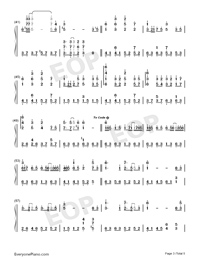 Oborozuki-Full Version-Numbered-Musical-Notation-Preview-3