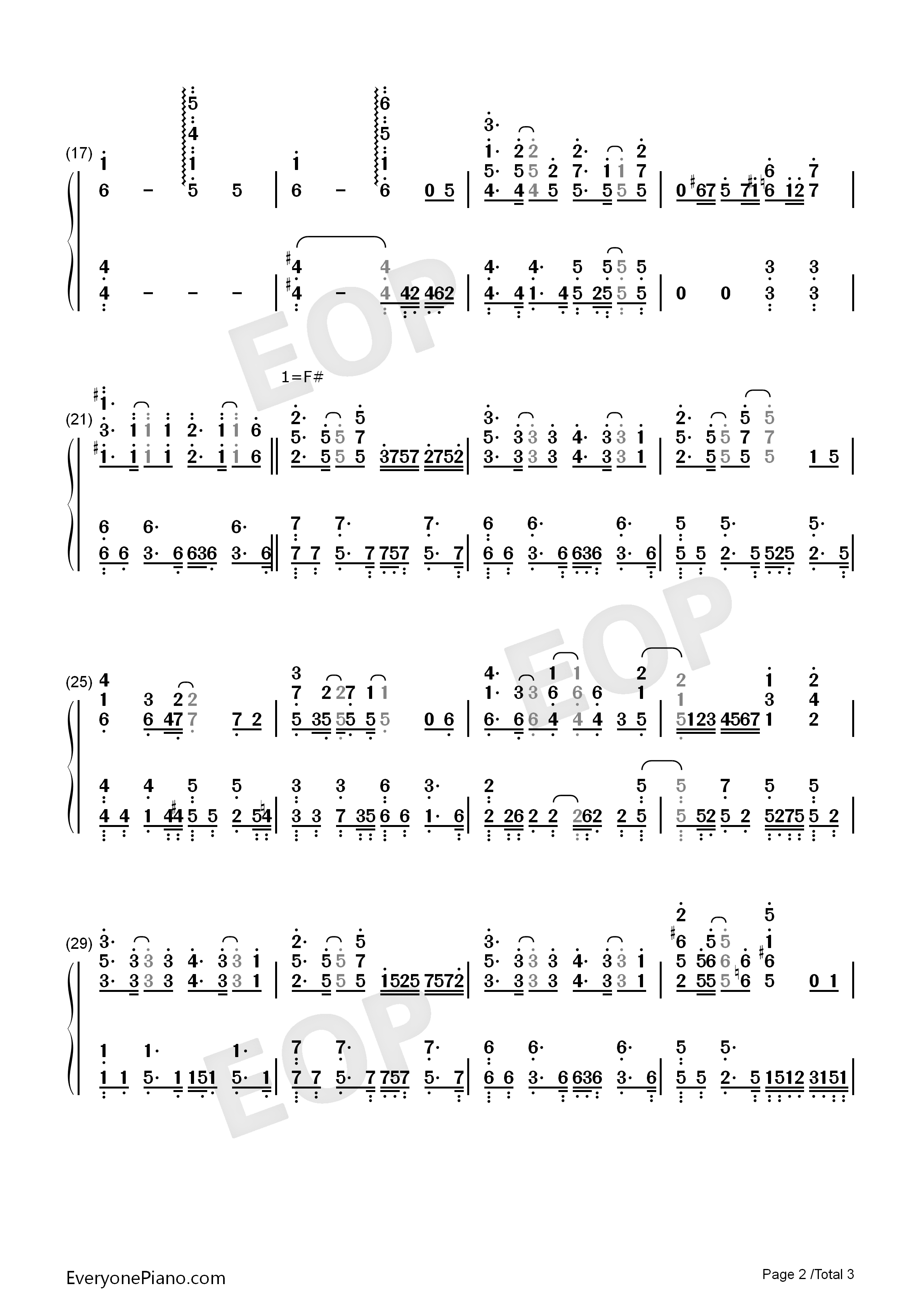 Chīsana Omoi-Isekai Cheat Magician ED Numbered Musical Notation Preview 2