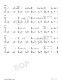 無羁-忘羨-超級簡單版雙手簡譜預覽2