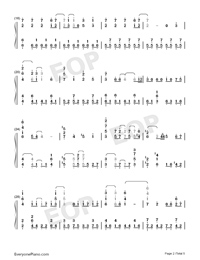 Tsuki o Ou Mayonaka-Granbelm OP-Numbered-Musical-Notation-Preview-2