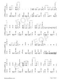 Tsuki o Ou Mayonaka-Granbelm OP-Numbered-Musical-Notation-Preview-3