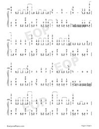 Tsuki o Ou Mayonaka-Granbelm OP-Numbered-Musical-Notation-Preview-4